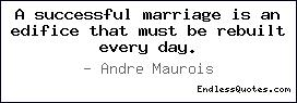 A successful marriage is an ed