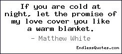 If you are cold at night, let