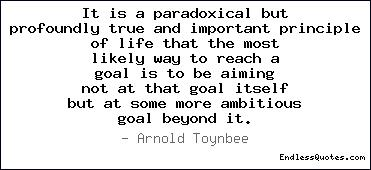 It is a paradoxical but profou