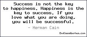 Success is not the key to happ